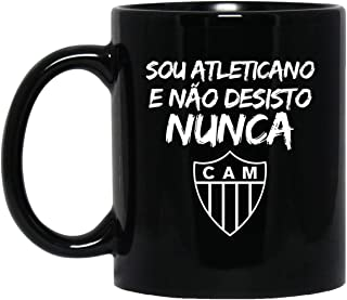 Atletico Mineiro Soccer Fan 11 oz. Black Mug