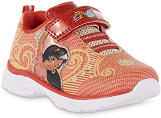 Disney Toddler Girls Elena of Avalor Light-Up Orange Sneaker Size 6