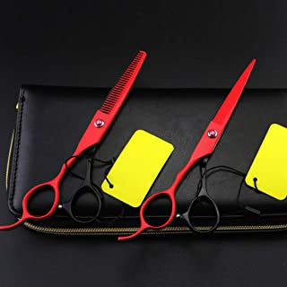 Hairdressing and Hair Thinning Scissors Barber Salon Shears 6 Inch Left Hand Gift Set Hairdressing Scissors Set Plus Sciss...