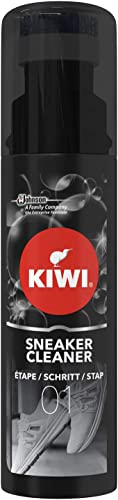 Kiwi Nettoyant pour Baskets, Brosse Intégrée, Sneaker Cleaner, 75 ml