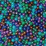 TOAOB 1050 Piezas ABS Perlas de imitacin de 5 mm Redondos Abalorios de Acrlico Sueltos de Colores para la Fabricacin de Joyas Accesorios con Cuentas Collar Pulsera