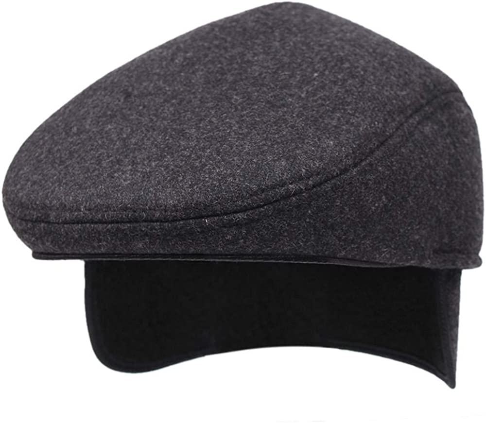 QGcute Autumn and Winter Middle-Aged and Elderly Thickened Earmuffs Warm Earmuffs Woolen Sports caps