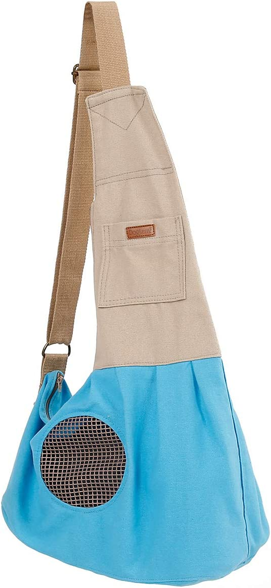 Nature Cotton Canvas Single Shoulder Dog Sling Cat Carrier B New popularity Pet Max 77% OFF