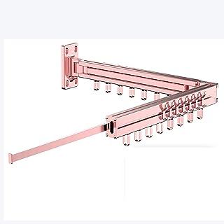 Équipement pour la maison Étendoir à linge Étagère à sec rétractable rétractable fixée au mur Étagère à sec en aluminium r...