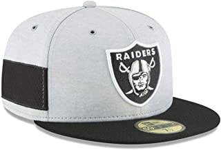 New Era Oakland Raiders 2018 NFL Sideline Home 59FIFTY Fitted Hat – Heather Gray/Black