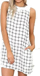 Cheryl Bull Fashionable Black and White Dress Casual Women Clothing Fashion Geometric Print Dresses