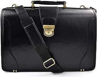 Borsa medico pelle doctor bag nero a mano con manico e tracolla pelle borsa pelle uomo donna made in Italy cartella pelle