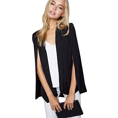 695232742be BELLA PHILOSOPHY Women s Shawl Blazer Cape Jacket Open Front Cape Split  Workwear
