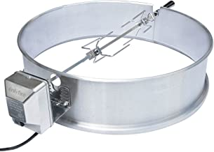 only fire Universal Stainless Steel Charcoal Kettle Rotisserie Ring Kit for Weber 2290 and Other Models