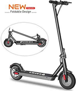 Electric Scooter: Folding Electric Scooter with Shock Absorbers and 8.5 Inch Kick Tire, Up to 18 Miles Range, Max Load 264 lbs, 16 MPH 3 Seconds Folding Commuting E-Scooter for Adults and Teenagers