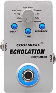Coolmusic A-DE01 Digital Delay Guitar Effects Pedal with 9 Delay Effects