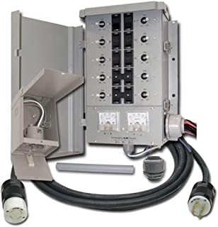 Connecticut Electric EGS107501G2KIT EmerGen EGS107501G2 10 Circuit Manual Transfer Switch Kit, Portable Generator for Emergency Use