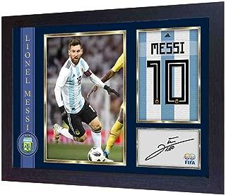 S&E DESING Lionel Messi Argentina National Barcelona Autograph Signed Poster Photo Framed