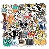 防水 動物 猫ステッカー かわいい スケートボード/オートバイ/自転車/電話/pc/キーボード/スーツケース diy デカールグラフィティ 50枚入り