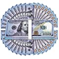 UNKENBO Movie Prop Money 100 Dollar Bills - Realistic Play Money Full Print Two Sided , 100 Pcs for Movies, Music Videos, Prank Teaching and Parties from UNKENBO