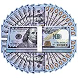 UNKENBO Movie Prop Money 100 Dollar Bills - Realistic Play Money Full Print Two Sided , 100 Pcs for Movies, Music Videos, Prank Teaching and Parties