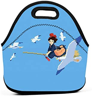 KILILY Kikis Delivery Service Men Women Kids Insulated Lunch Bag Tote Reusable Lunch Box For Work Picnic School