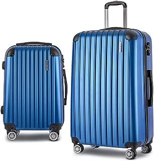Wanderlite 2PCS Carry On Luggage Sets Suitcase Travel Hard Case Lightweight - Blue