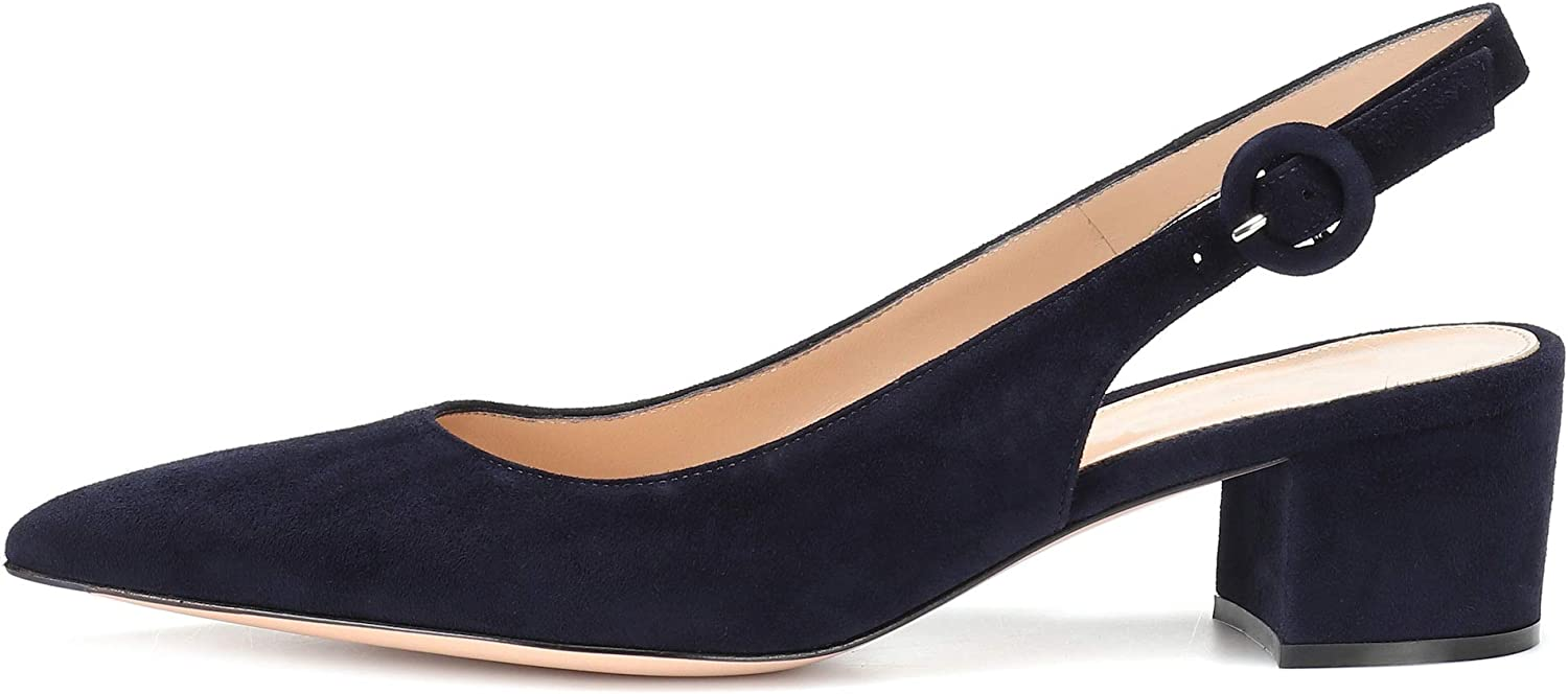 Eldof Pointed Toe Pumps Slingback Selling Ranking TOP4 and selling Ankle Classy Buckle Chic