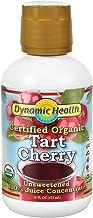 Dynamic Health Organic Tart Cherry   Unsweetened 100% Juice Concentrate   Vegan, Gluten Free, BPA Free (16oz)