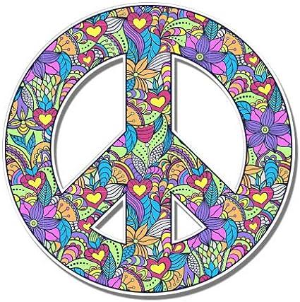 I Love You Hippie Hand Sign sticker 39 Bumper Stickers Vinyl Sticker,Best Friend Gift Labels Funny Sticker Tablet Decal
