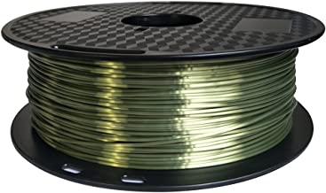 Silk Bronze 3D Printer Filament PLA 1.75 mm 1 KG (2.2 LBS) Shine Silky Shiny Bronze Like PLA CC3D ZHUOPU