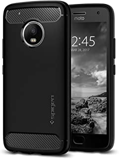 Spigen Rugged Armor Moto G5 Plus Case with Resilient Shock Absorption and Carbon Fiber..
