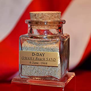 Last One! D-DAY real Omaha Beach SAND from Normandy, France, BOTTLE with Plaque, COA + PHOTO, Provenance, WWII