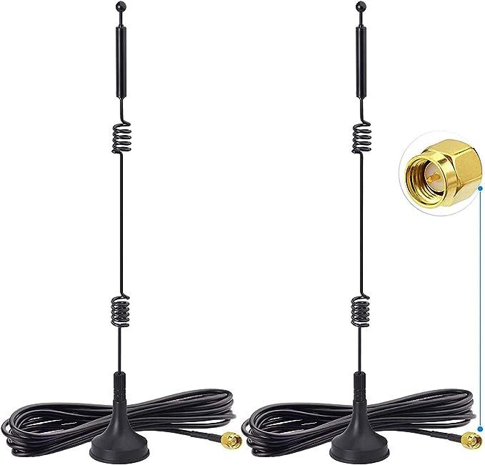 47 opinioni per Bingfu WiFi Dual Band 2.4GHz 5.8GHz 9dBi Antenna SMA Maschio Base Magnetica