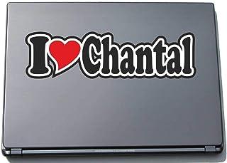 INDIGOS UG - 'I Love Serce' Naklejka Skórka laptopa 297 mm - I Love - Imię Laptop netbook Komputer - Naklejka z imieniem m...
