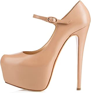 EDEFS - Scarpe da Donna - Mary Jane Donna - Formale Stivaletto Scarpe - Scarpe con Tacco Alto