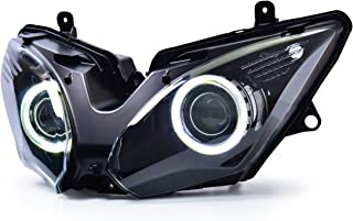 KT Headlight Assembly for Kawasaki Ninja 650 2017-2019 White Angel Eye