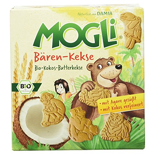 Mogli Bären Keks, Bio-Kokos-Butterkekse, 125 g