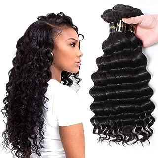Brazilian Virgin Hair Loose Wave Hair Weave 3 Bundles 300g Unprocessed Loose Deep Wave Virgin Human Hair Weave Natural Black