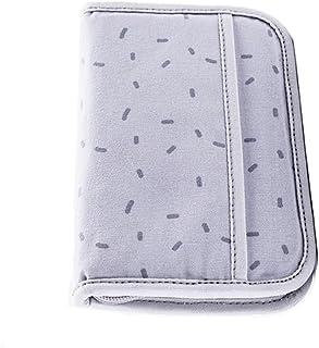 Minimalist Pure Color Plaid Plain Geometry Travel Wallet Family Passport Holder Pouch