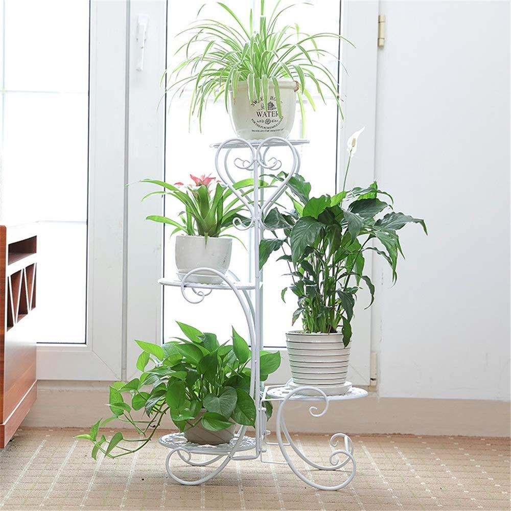 Soporte Plantas Iron Art Soporte de la planta de maceta de 4 niveles Soporte de flor