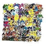 L&U Cartoon Autocollants Pokemon, Anime Vinyle Autocollant pour Ordinateur Portable Bouteille Personnaliser l'eau...