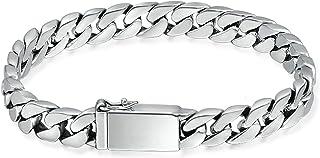 ChainsPro Bracelet Homme Personnalis/é Gourmette en Cuir Larguer 5MM de Corde Tress/ée Couleur Noir//Brun Taille-18//20//22 cm Bracelet Cuir Gravure pour Homme Gar/çon Bijoux Punk avec Bo/îte Cadeau