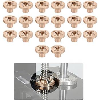 Aibecy 20pcs Lat/ón de 8 mm Brida trapezoidal T plomo Tornillo Tuerca para RepRap i3 impresora 3D de Z Eje