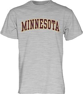 NCAA Minnesota Golden Gophers Adult NCAA Retro Stacked Image One Everyday Short sleeve T-Shirt Large,HeatherGrey