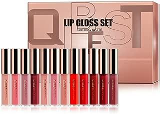DONGXIUB 12 Colors Matte Mist Liquid Lipstick Set Long Lasting Creamy Waterproof Non-stick Cup Lip Gloss