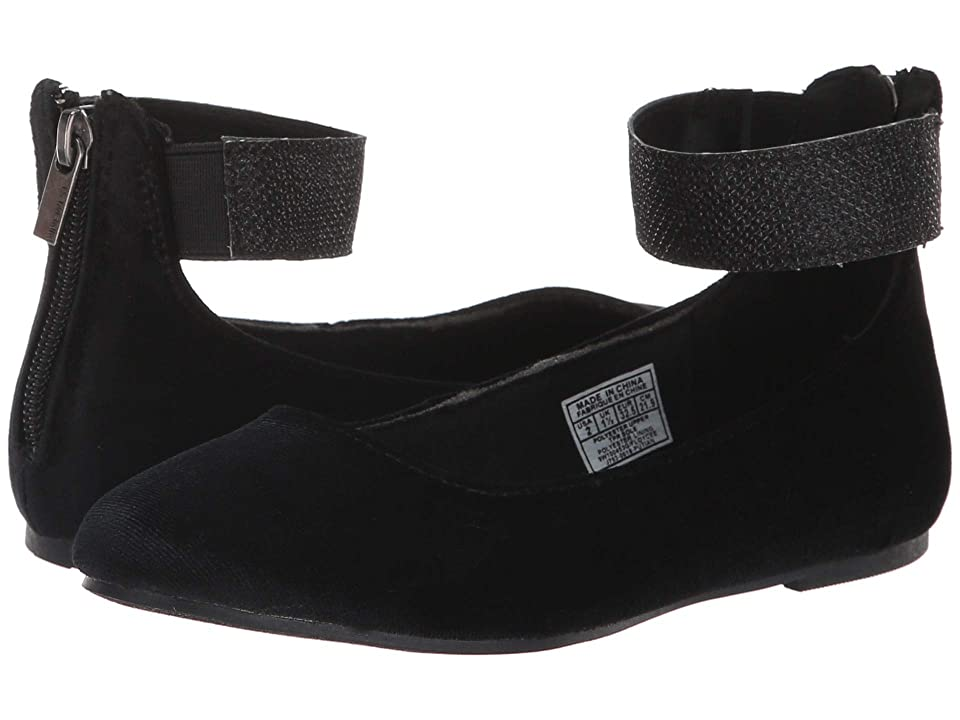 Nine West Kids Floycee (Little Kid/Big Kid) (Black Velvet/Glitter) Girls Shoes