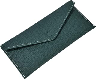YAOHONG 財布leyrネックランスクレジットウォレットレトロシンプルロングウォレット女性レザー超薄手の大きな紙幣クランプ (Color : Green)