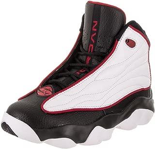 Jordan 407484-005: Pro Strong Big Kid White/Black/Red Basketball Sneakers (5 M US Big Kid)