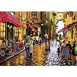 GuDoQi Puzzle 1000 Piezas Adultos Rompecabezas Calle del Café Romántico para Infantiles Adolescentes