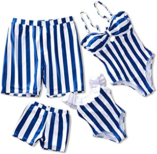 Family Swimsuit Striped One Piece Beach Wear Newest Off Monokini Bathing Suit