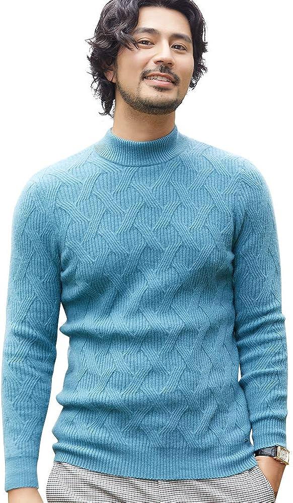 织礼 Zhili Winter Thicken Pullover Pure Cashmere Stitch Sweater for Mens