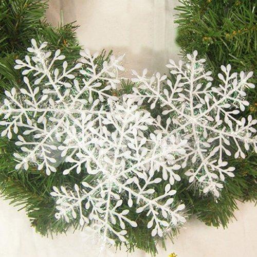Bluelans® 30 Stück Weiß Schneeflocken Stern Schnee Weihnachtssterne Dekostern Fensterdeko Weihnachtsschmuck zum Hängen formbar Tischdeko/Weihnachtsdeko