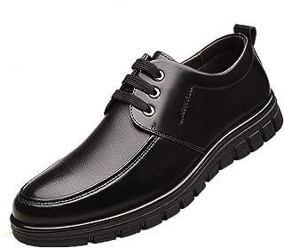Zapatos Formales para Hombre, Zapatos de Cuero clásicos, Zapatos de Negocios con Cordones de Punta Redonda, Zapatos Oxford...