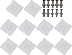 TOPBATHY 10Pcs Adhesive Nails Wall Hooks Adhesive Screws Wall Mount Hanging Nails No- Trace Sticky Hooks Screw for Bathroo...